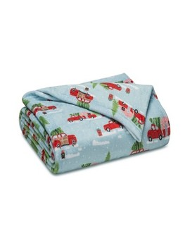 holiday-print-plush-bed-blanket---elite-home-products by elite-home-products