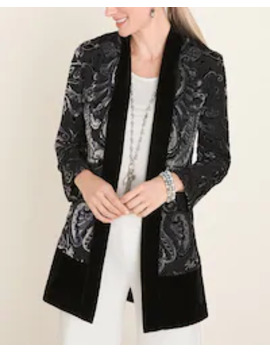 printed-velvet-jacket by travelers-collection