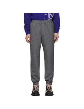 grey-cropped-jog-trousers by kenzo