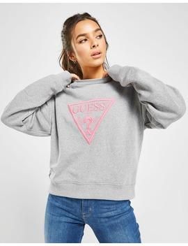 guess-neon-triangle-logo-crew-sweatshirt by jd-sports