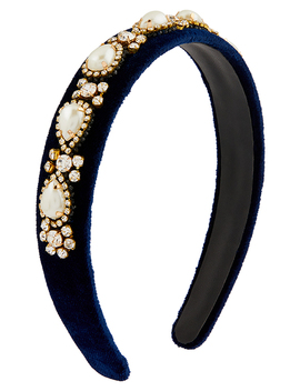 Heritage Pearl Embellished Wide Alice Hair Band by Accessorize