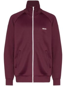 logo-print-track-jacket by kenzo