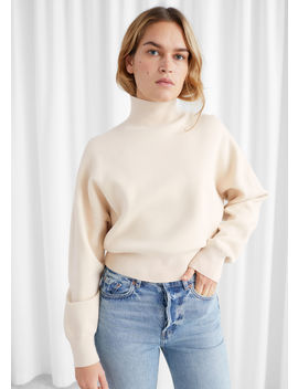 boxy-mock-neck-sweater by &-other-stories