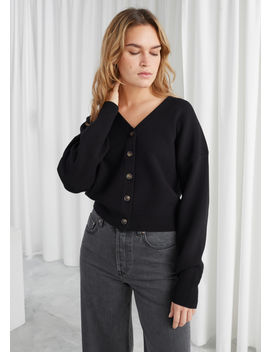 boxy-plunging-v-cut-cardigan by &-other-stories