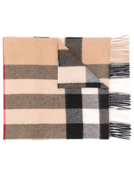 half-mega-check-cashmere-scarf by burberry