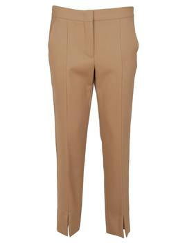 beige-cotton-trousers by max-mara
