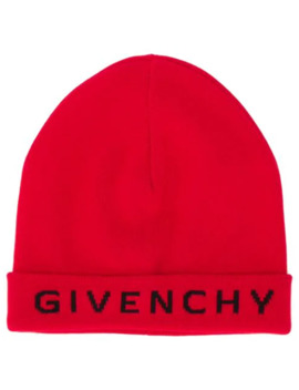 logo-printed-beanie by givenchy