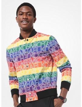 rainbow-logo-bomber-jacket by michael-kors-mens