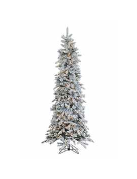 7.5 Ft. Pre Lit Flocked Pencil Pine Christmas Tree by Kirkland's