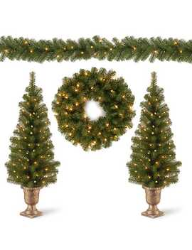 Pre Lit Natural Pine 4 Pc. Christmas Greenery Set by Kirkland's