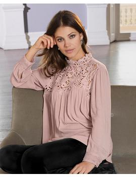 together-lace-trim-blouse by simply-be