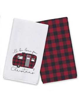 ill-be-home-for-christmas-kitchen-towel,-set-of-2 by kirklands