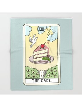 cake-reading-throw-blanket by society6