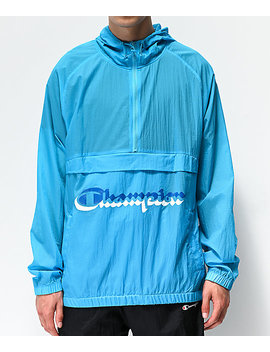 champion-manorak-tidal-blue-anorak-jacket by champion