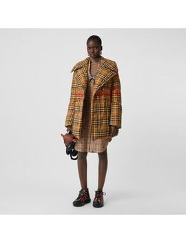 horseferry-print-check-down-filled-oversized-pea-coat by burberry