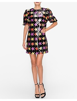 endless-rose-star-sequin-puff-sleeve-dress by express