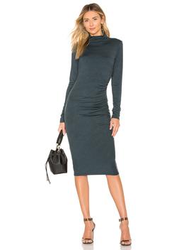 mock-neck-midi-dress by michael-stars