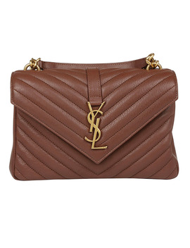 College Bag In Brandy Old by Saint Laurent