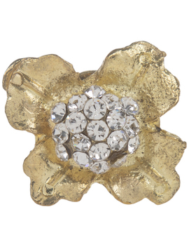 Gold Flower Metal Knob With Rhinestones by Hobby Lobby
