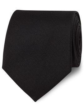 black-panama-silk-tie by tmlewin