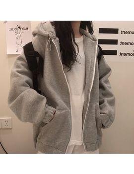 malnia-home---plain-zip-hoodie by malnia-home