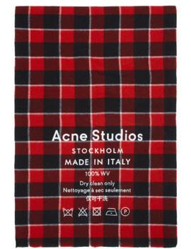 red-&-black-cassiar-scarf by acne-studios