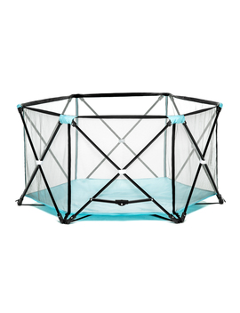 regalo-my-play-portable-playard-indoor-and-outdoor-with-carry-case-and-washable,-aqua,-6-panel by regalo