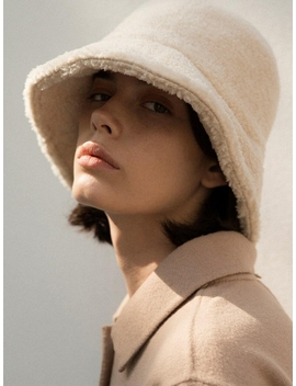 shearling-bucket-hat-cream by nonlocal