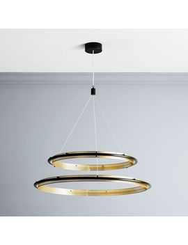 perforated-double-led-chandelier by west-elm