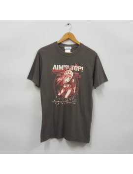 "vintage-aim-for-the-top-""gunbuster""-japanese-anime-t-shirt by japanese-brand  ×  cartoon-network  ×"