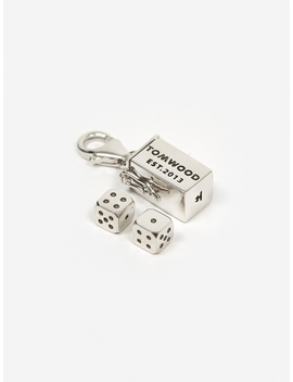 Box Charm Large   Sterling Silver by Tom Wood