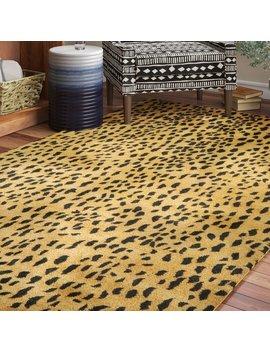 dorthy-animal-print-hand-tufted-wool-beige_brown-area-rug by bloomsbury-market