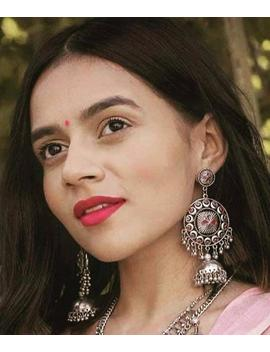 indian-jewelery,-afghani-jewelery,-afghani-jhumkas,-german-silver-,boho-earrings,-afghani-earrings by etsy