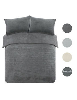brentfords-teddy-fleece-duvet-cover-with-pillow-case-thermal-warm-bedding-set by ebay-seller