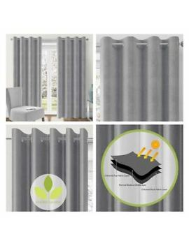grey-blockout-curtains-lismore-eyelet-thermal-block-out-ring-top-curtain-pairs by ebay-seller