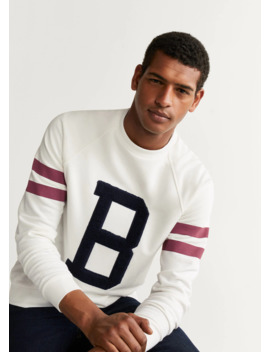 sudadera-varsity-bordado by mango