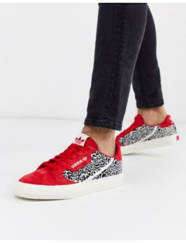 adidas-originals-continental-vulc-in-red-with-leopard-print by adidas-originals