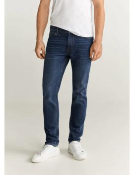 jeans-jan-slim-fit-lavado-oscuro by mango
