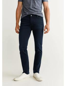 jeans-patrick-slim-fit-negro-azulado by mango