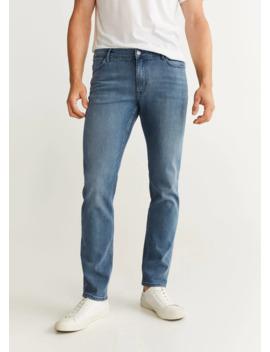 jeans-patrick-slim-fit-lavado-medio by mango