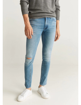 jeans-skinny-rotos-decorativos by mango