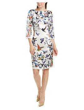 st-john-silk-blend-sheath-dress by st-john