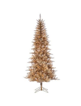 75ft-sterling-tree-company-rose-gold-tuscany-tinsel-tree-artificial-christmas-tree by sterling