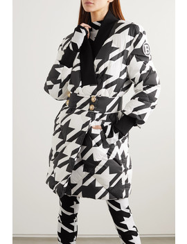 button-embellished-houndstooth-quilted-shell-down-coat by balmain