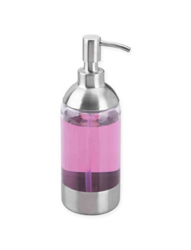 idesign®-forma-anna-soap-pump-in-brushed-silver by bed-bath-and-beyond