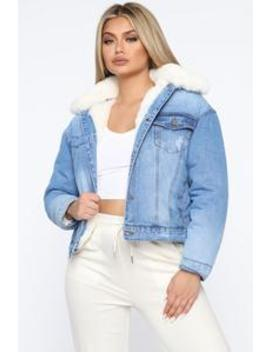 go-about-your-business-denim-jacket---medium-wash by fashion-nova