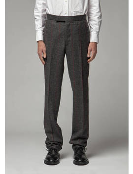 herringbone-hunting-tweed-backstrap-trouser by thom-browne