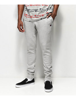 Champion Reverse Weave Small Logo Oxford Grey Sweatpants by Zumiez
