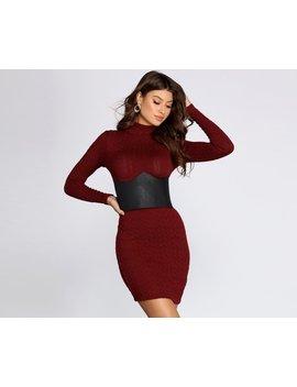 sleek-faux-leather-corset-belt by windsor