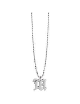 misbhv-necklace-m-monogram-chain-pendant by custom  ×  diy  ×  misbhv  ×